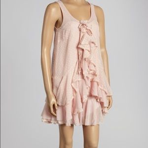 RYU pastel pink ruffled dress
